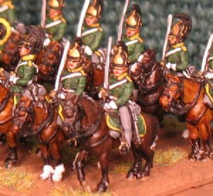 15mm, Napoleonic Russian Dragoons AB 12 figures